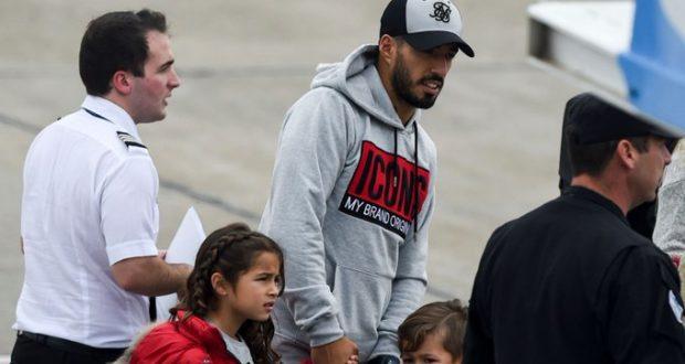 لويس سواريز مع أطفاله