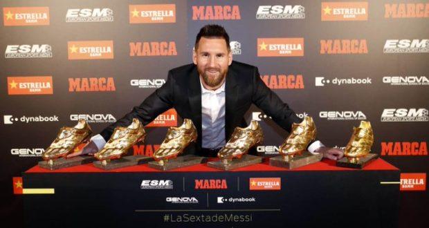 ميسي الحذاء الذهبي