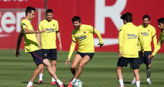 بيكي و تدريبات برشلونة