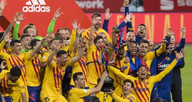 فوز برشلونة بكأس الملك 2020/2021